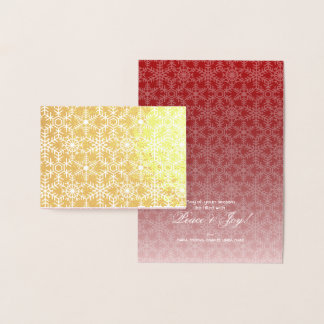 Modern Winter Snowflake Web Holiday Greeting Foil Card