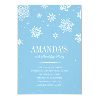 Modern Winter Wonderland Invitations