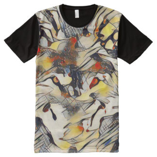 Modern Wolf Abstract Art All-Over Print T-Shirt
