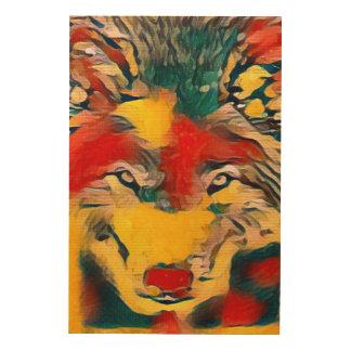 Modern Wolf Gauguin Style Airbrush Art