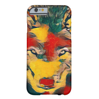 Modern Wolf Gauguin Style Airbrush iPhone 6 Case