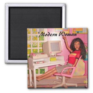 """Modern Woman"" magnet"