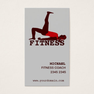 Modern Woman Practicing Yoga Abs Workout Business Card