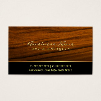 Modern Wood Grain Art & Antique Dealer Business Card
