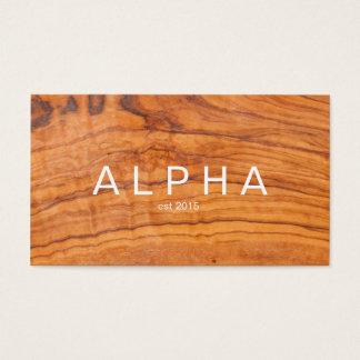 Modern Wood Grain Background Design Business Card