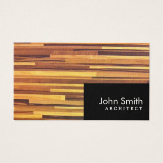 Modern Wood Stripes Architect Business Card
