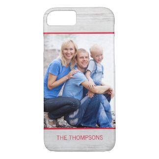 Modern Woodgrain Custom Photo iPhone Case