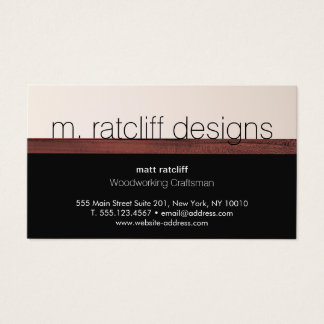 Modern Woodworker Wood Carpentry Business Card