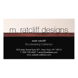 Modern Woodworker Wood Carpentry Pack Of Standard Business Cards