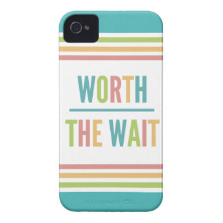 Modern Worth the Wait - Adoption, New Baby Case-Mate iPhone 4 Case