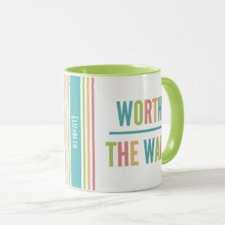 Modern Worth the Wait - Adoption, New Baby Mug