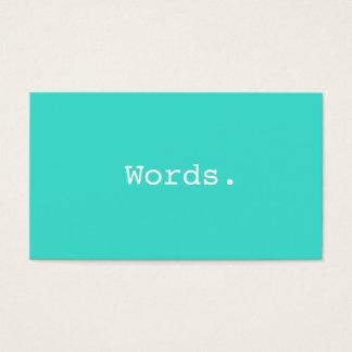 Modern writer publisher editor turquoise blue