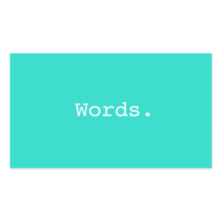Modern writer publisher editor turquoise blue pack of standard business cards
