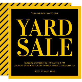 Modern Yard Sale Invitation