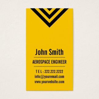 Modern Yellow Aerospace Engineer Business Card