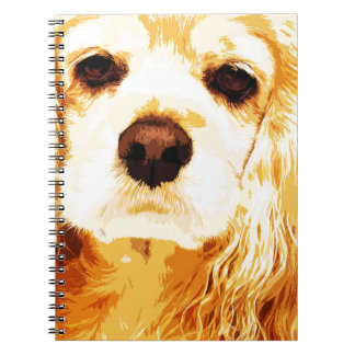 modern yellow American cocker spaniel Notebook