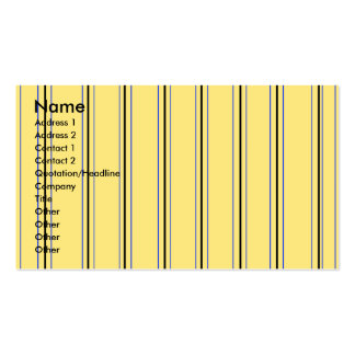 Modern yellow and blue pinstripes pack of standard business cards
