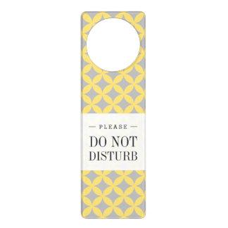 Modern Yellow and Gray Circle Pattern Door Hanger