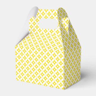 Modern Yellow and White Circle Polka Dots Pattern Favour Box