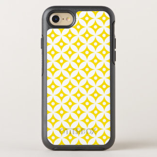 Modern Yellow and White Circle Polka Dots Pattern OtterBox Symmetry iPhone 8/7 Case