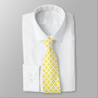 Modern Yellow and White Circle Polka Dots Pattern Tie