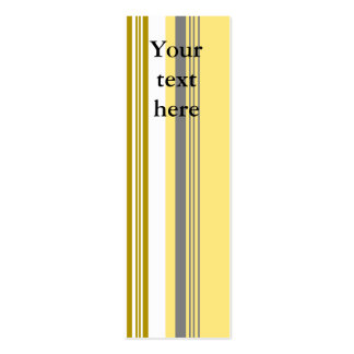 Modern yellow and white stripes business card