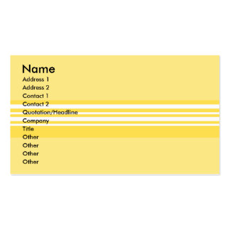 Modern yellow and white stripes pack of standard business cards