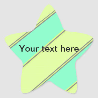 Modern yellow blue diagonal stripes stickers