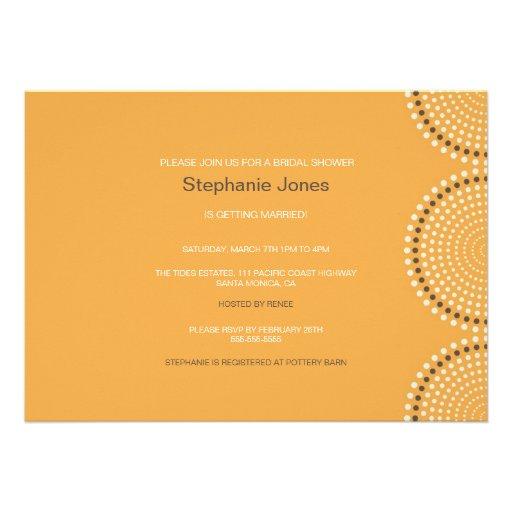 Modern Yellow Circles Bridal Shower Invitation