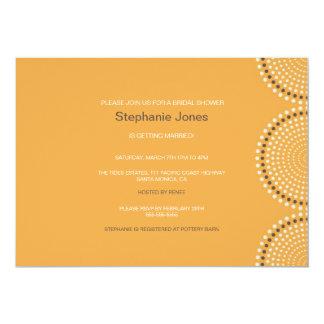 "Modern Yellow Circles Bridal Shower Invitation 5"" X 7"" Invitation Card"