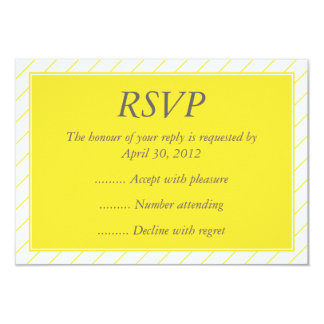 Modern Yellow Event Reply, RSVP or Response Cards