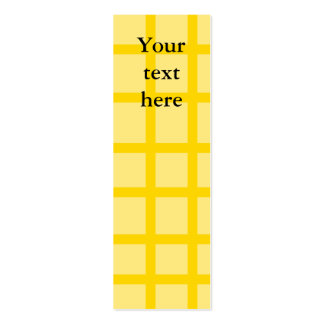 Modern yellow grid pattern business cards