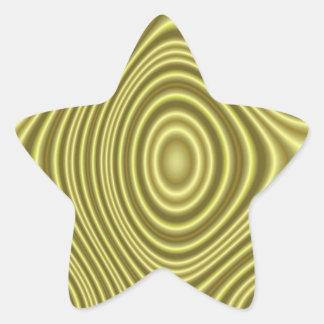 Modern yellow line pattern star sticker