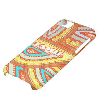 Modern Yellow Orange Aqua Mint Paisley Gifts iPhone 5C Cases