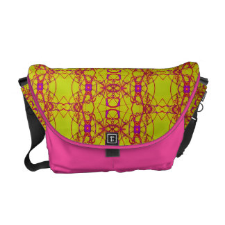 Modern yellow pink laced design commuter bags