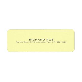 Modern Yellow Professional Return Address Label