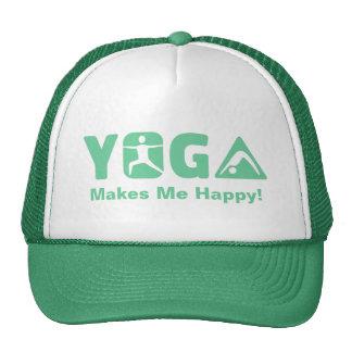 Modern Yoga Makes Me Happy in Green Cap
