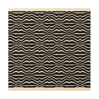 Modern Zebra Pattern Wood Canvases