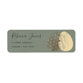 MODERN ZEN GREY WATERCOLOR EASTER EGGS ADDRESS RETURN ADDRESS LABEL
