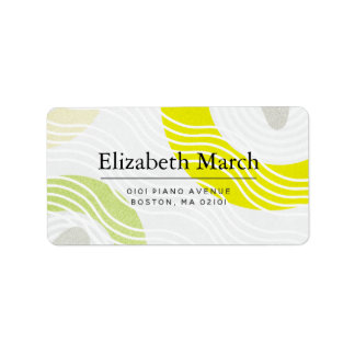 Modern Zen Rock Garden Gray Address Label
