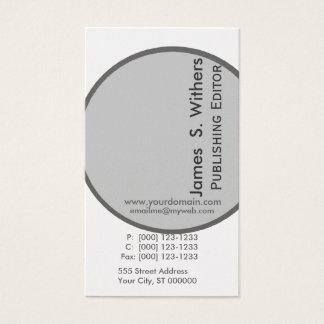 Modernist Artistic Contemporary Design Business Card