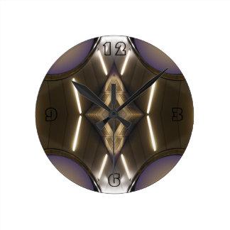 Modernist Chrome Contemporary Designer Clock