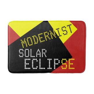 Modernist Solar Eclipse Funny customizable Bath Mat
