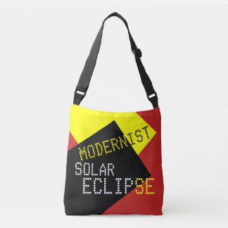 Modernist Solar Eclipse Funny customizable Crossbody Bag