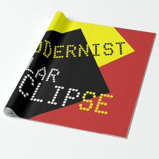 Modernist Solar Eclipse Funny customizable Wrapping Paper
