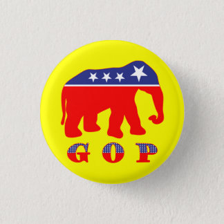Modernized GOP Elephant 3 Cm Round Badge
