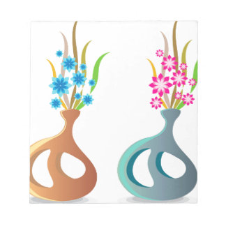ModernVaseFlowers Notepad