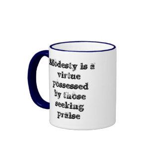 Modesty is a virtue mug