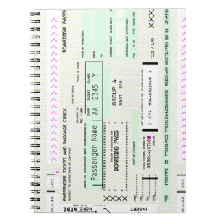 Modify this Airline Boarding Pass Notebooks