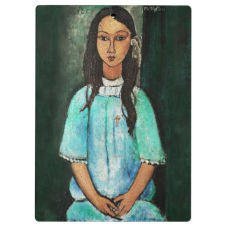 Modigliani Alice Vintage Fine Art Painting Clipboard